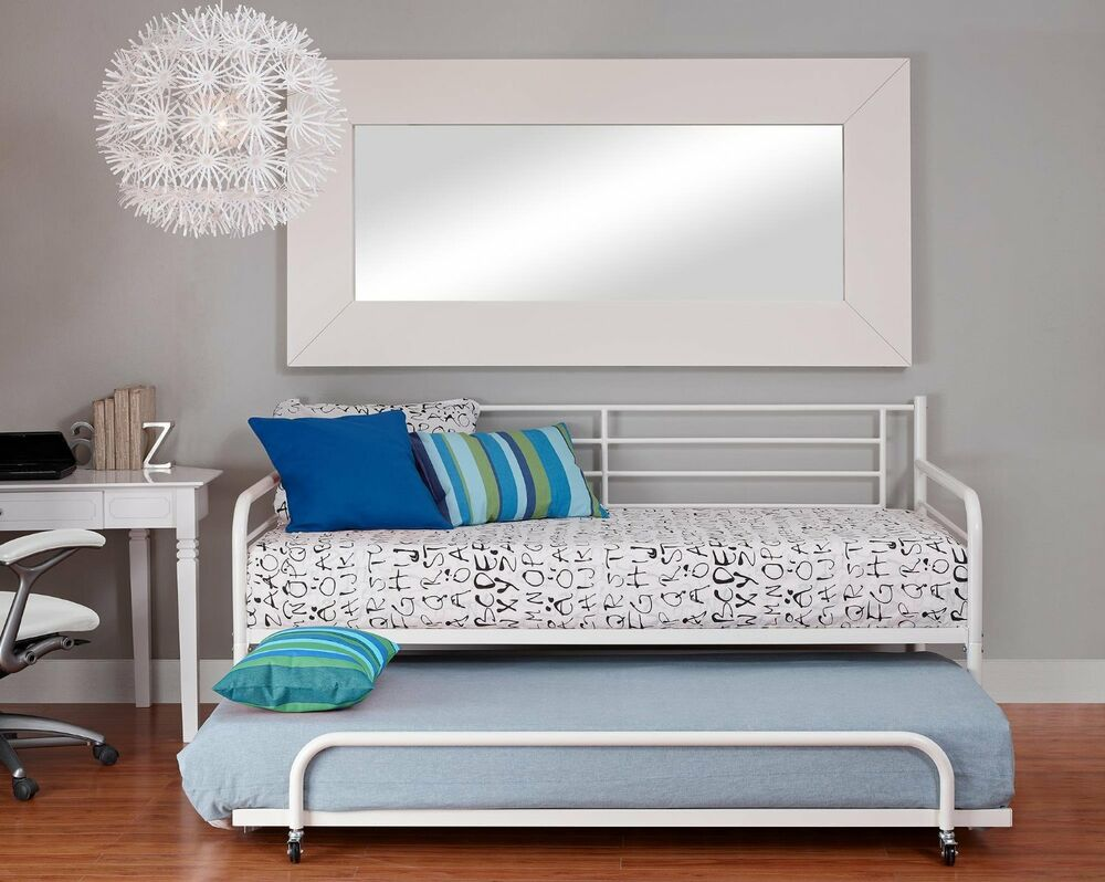 Twin Metal Trundle For Daybed Kids Loft Bedroom Bunk Bed