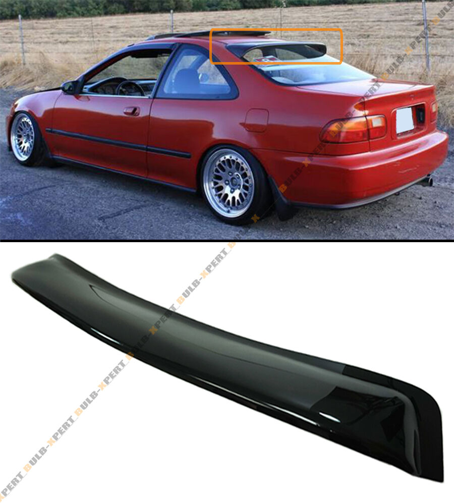 1992 95 honda civic 2dr coupe jdm blk smoke rear roof for 2000 honda civic rear window visor