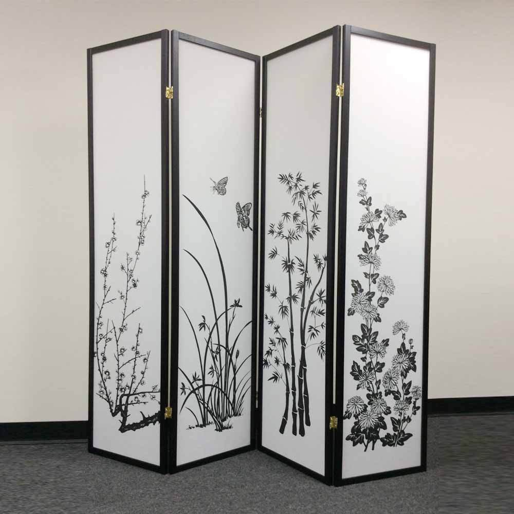 Legacy panels room divider folding screen shoji oriental