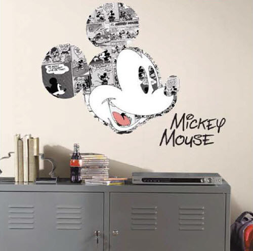 Disney mickey mouse comics wall stickers mural 4 decals - Mickey mouse clubhouse bedroom decor ...