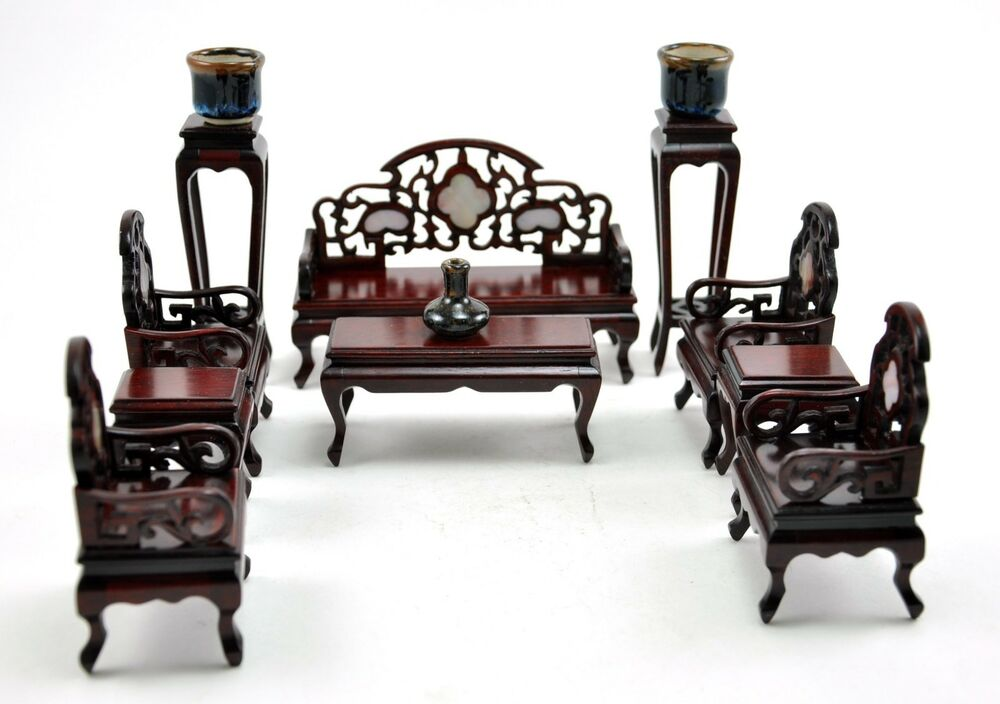 Vintage chinese rosewood chair inlaid miniature doll for Chinese furniture