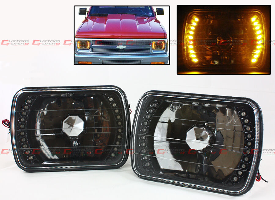 Led Headlights Sealed Beam Tractor : Toyota pickup truck glass lens jdm black sealed beam