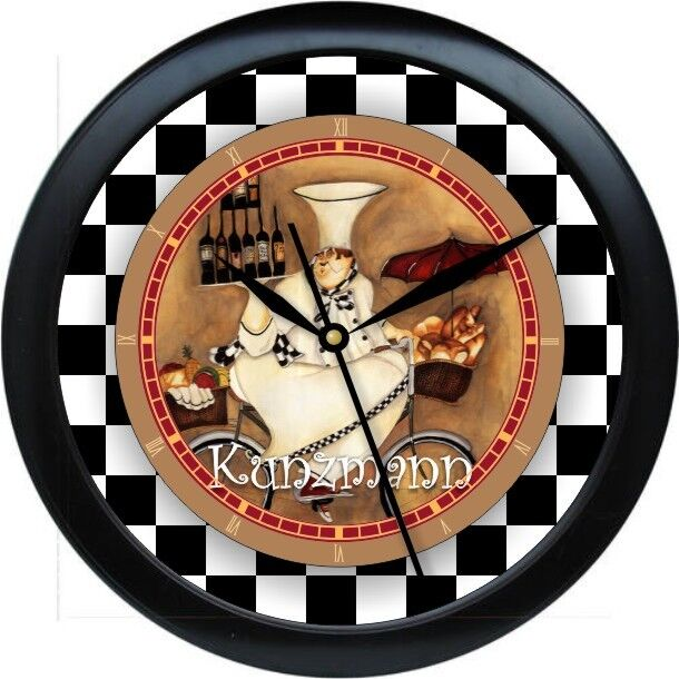kitchen wall clocks personalized chef kitchen wall clock gift ebay 30188