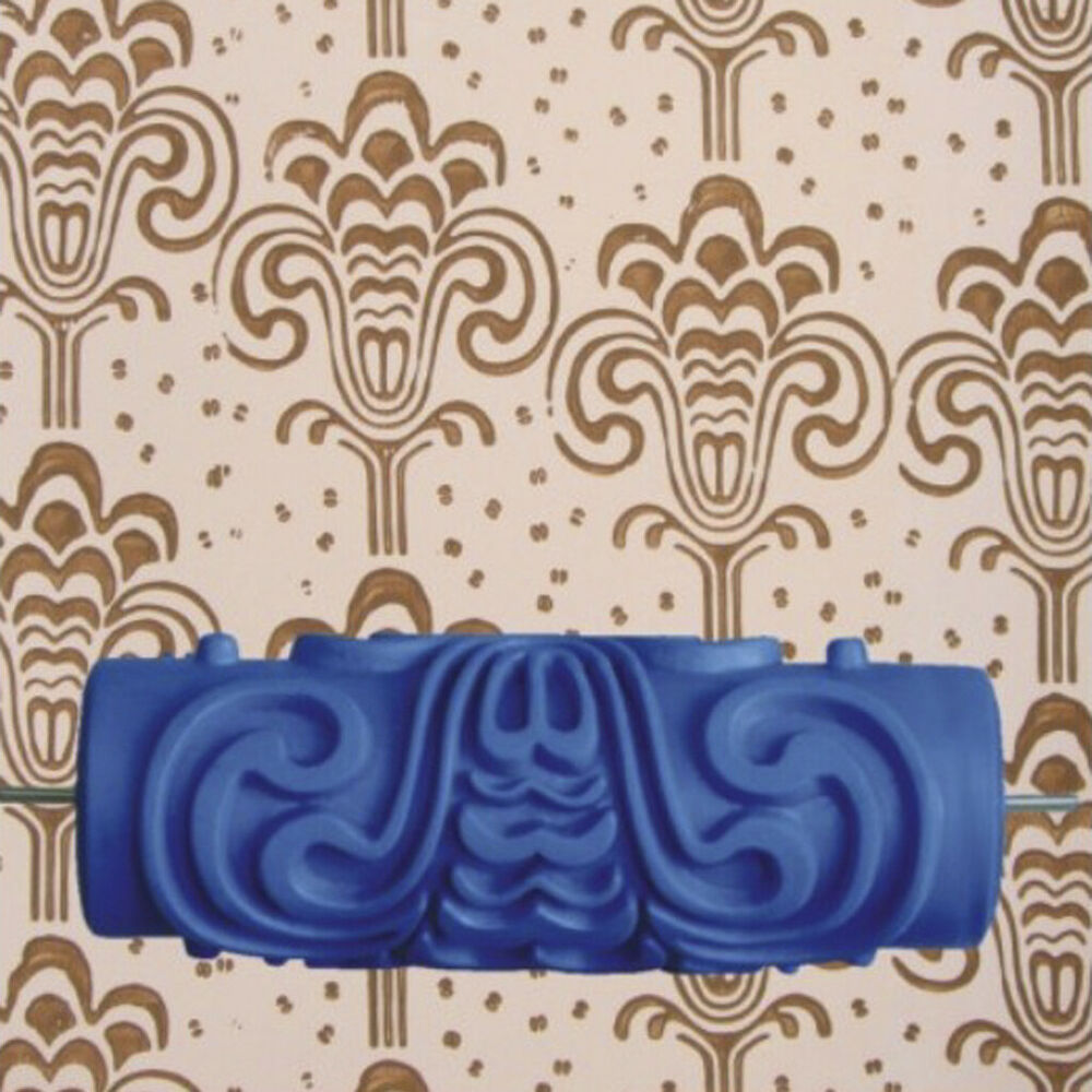 Diy Wall Texture With Roller : Cm empaistic flower pattern painting roller diy wall