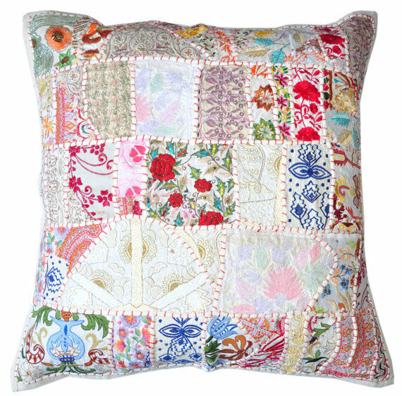 large throw pillows 24x24 quot x large white indian patchwork pillow decorative 11992