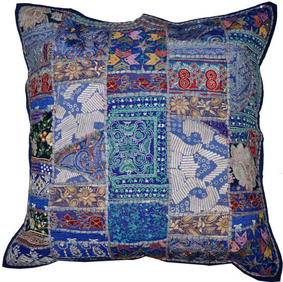 Decorative Pillows For Blue Couch : 24x24 vintage decorative throw pillows, Blue couch pillows, pillows and throws eBay