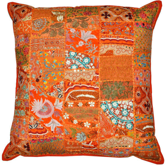 24quotVintage Bohemian Indian throw Pillow in Orange  : s l1000 from www.ebay.com size 570 x 568 jpeg 137kB