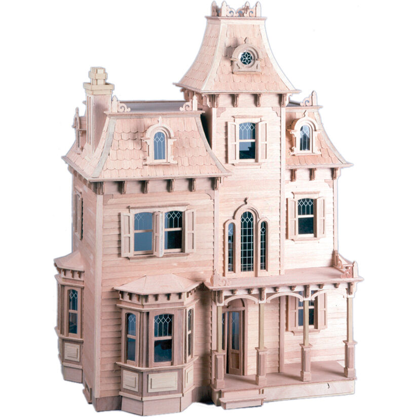 NEW The Beacon Hill Wood Dollhouse Kit Victorian Heirloom 7 Rooms 2