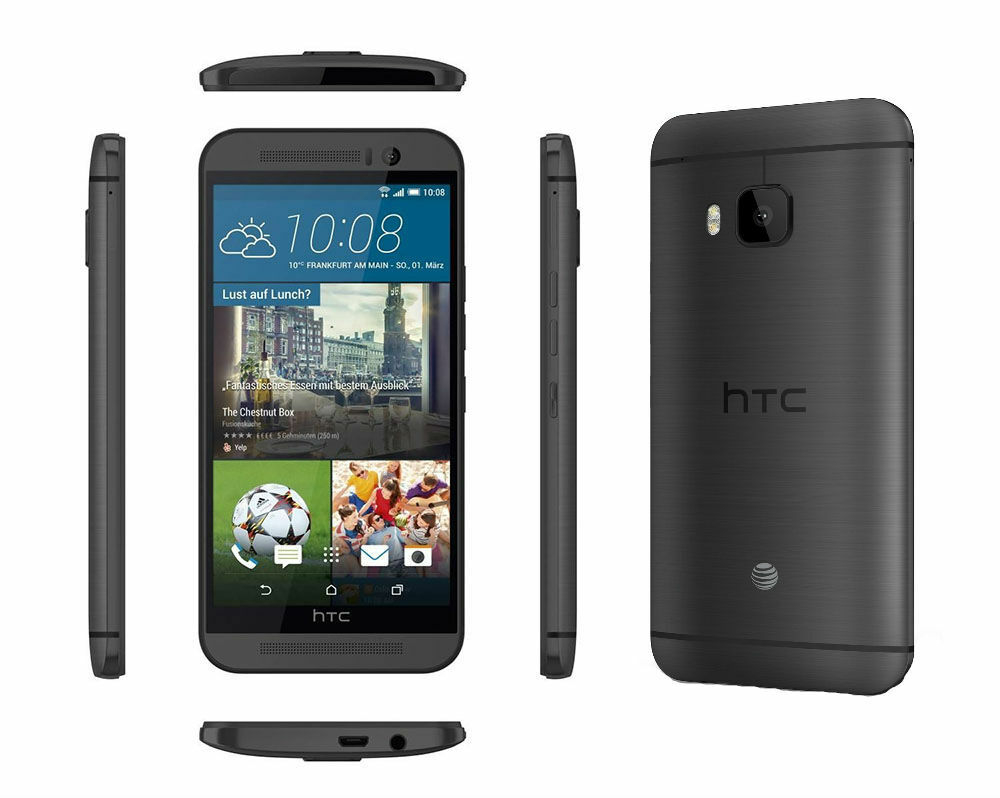 htc one m9 32gb 4g lte at t unlocked android smartphone latest model n o ebay. Black Bedroom Furniture Sets. Home Design Ideas