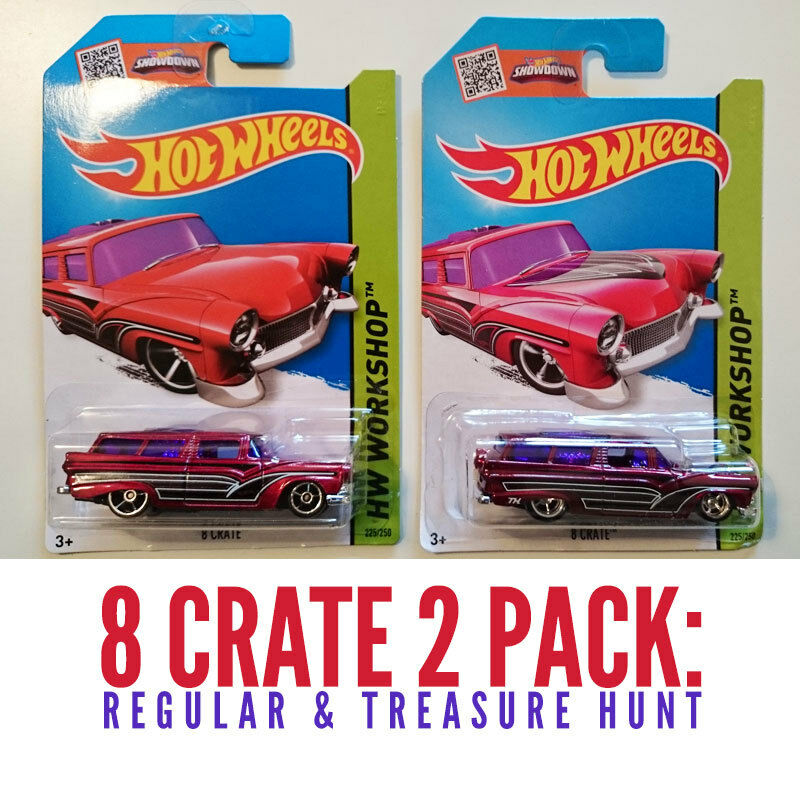 8 crate regular super treasure hunt new hot wheels. Black Bedroom Furniture Sets. Home Design Ideas