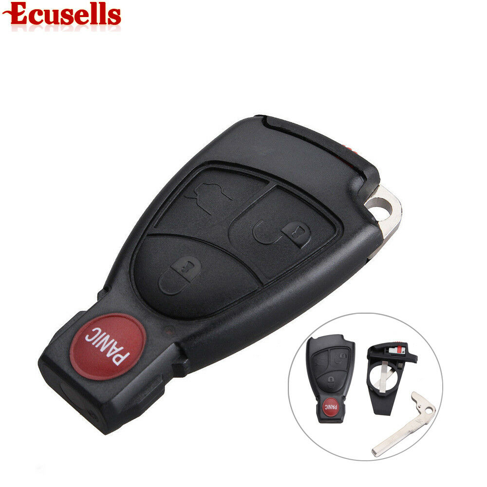 remote key case fob 3 1b for mercedes benz c230 c240 c320 cl600 battery holder ebay. Black Bedroom Furniture Sets. Home Design Ideas