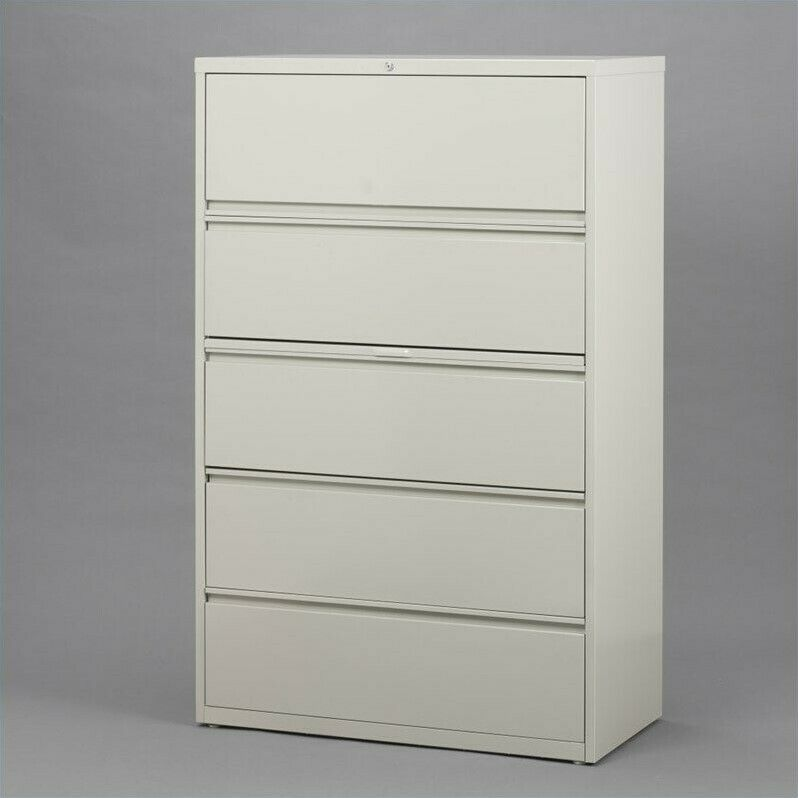 horizontal file cabinet filing cabinet file storage hirsh industries 5 drawer 16619