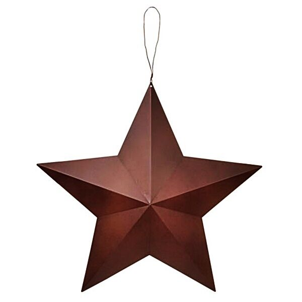 Rustic 15 barn star wall hanging sign primitive 3 d decor for Barn star decorations home