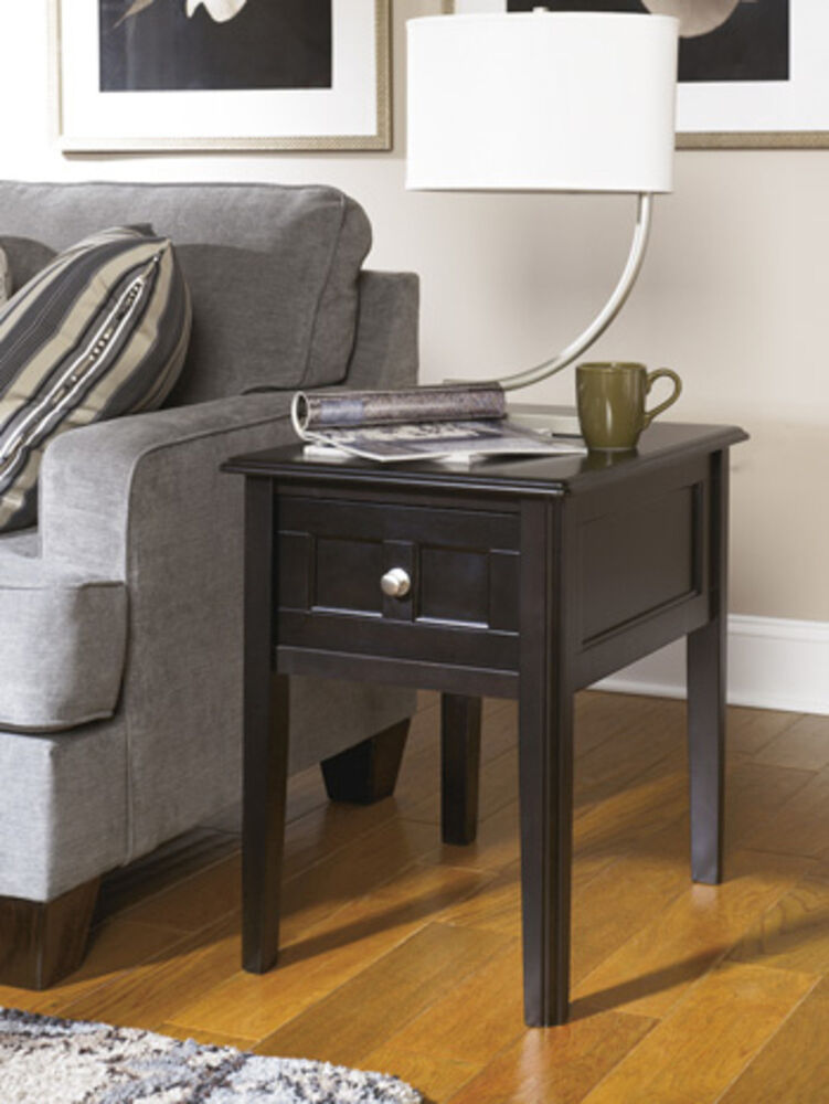 Ashley Furniture Chair Side End Table Henning Almost Black