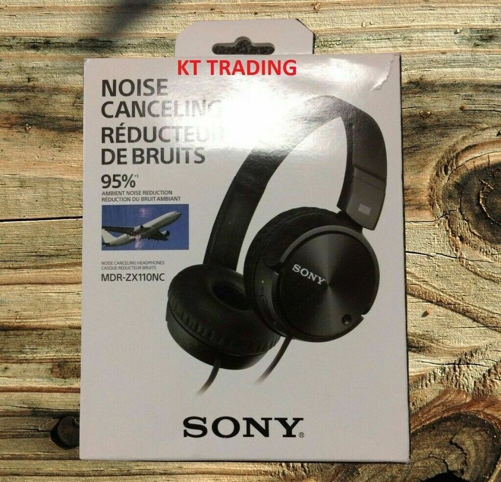 sony mdr zx110nc mdrzx110nc noise cancelling swivel stereo. Black Bedroom Furniture Sets. Home Design Ideas