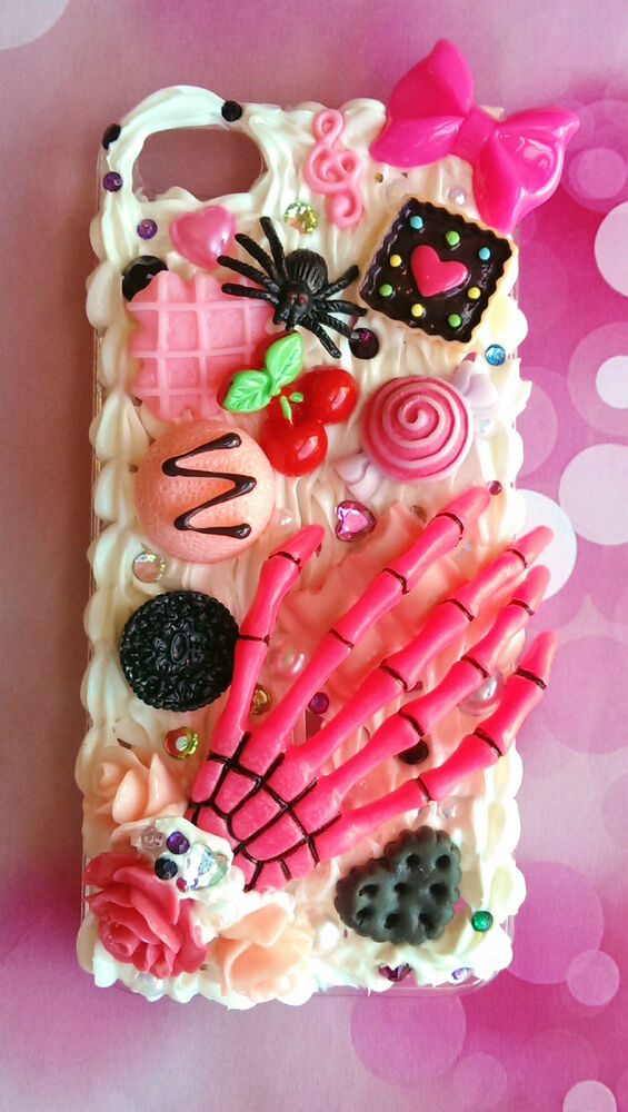 Decoden bling whipped cream case for iPhone 5(by default) or other on ...