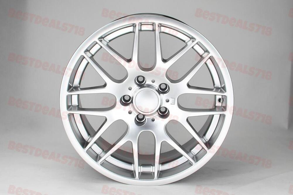 """18"""" SILVER M3 CSL STYLE RIMS WHEELS FITS BMW 3 SERIES NEW ..."""