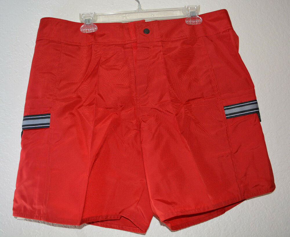 NEW Nike Men's Red Pocket Swim Trunks / Board Shorts Sz ...