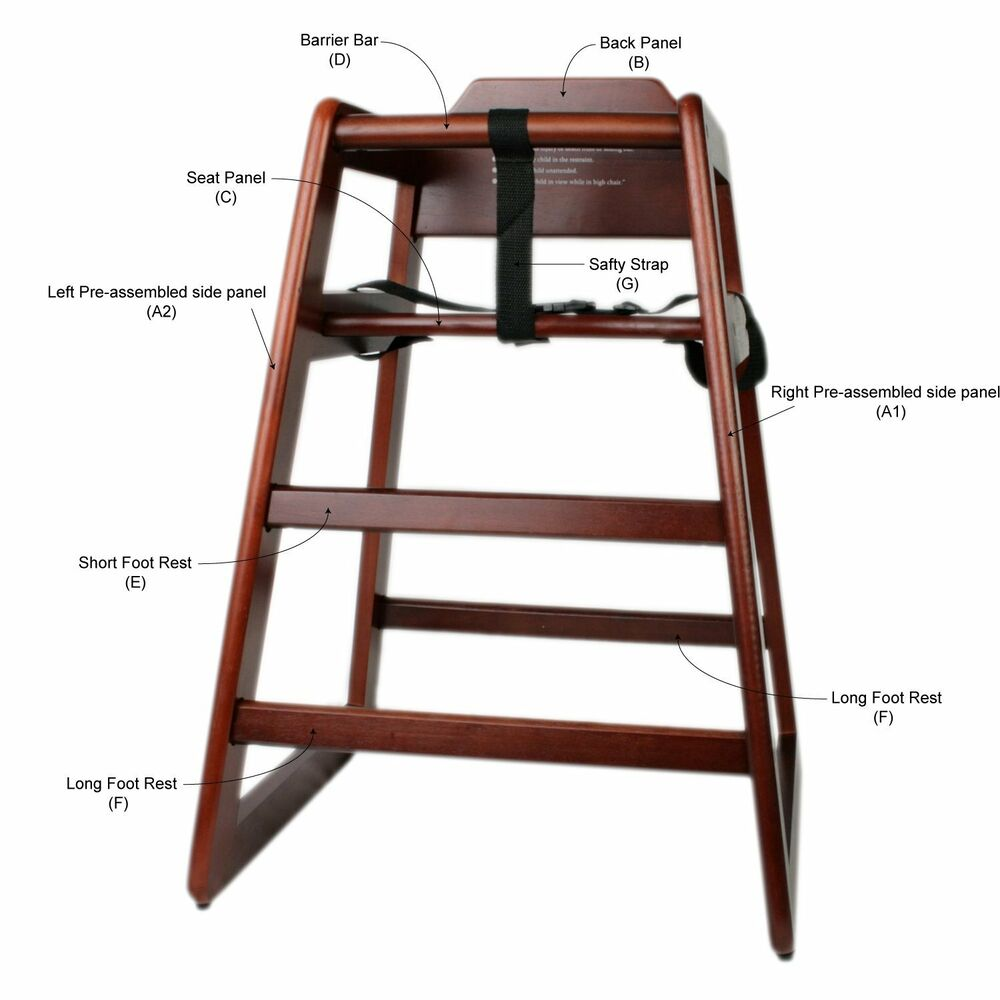 Wooden High Chair, Free shipping : eBay