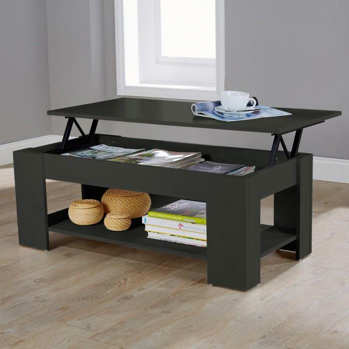 New Hf4you Brown Espresso Finished Lift Up Coffee Table Free Delivery Ebay
