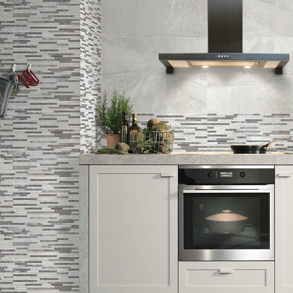 Bring An Eye Catching Captivating Display To Your Walls With The Introduction Of These Stylish White Tiger Picnic Stone Effect Wall Tiles