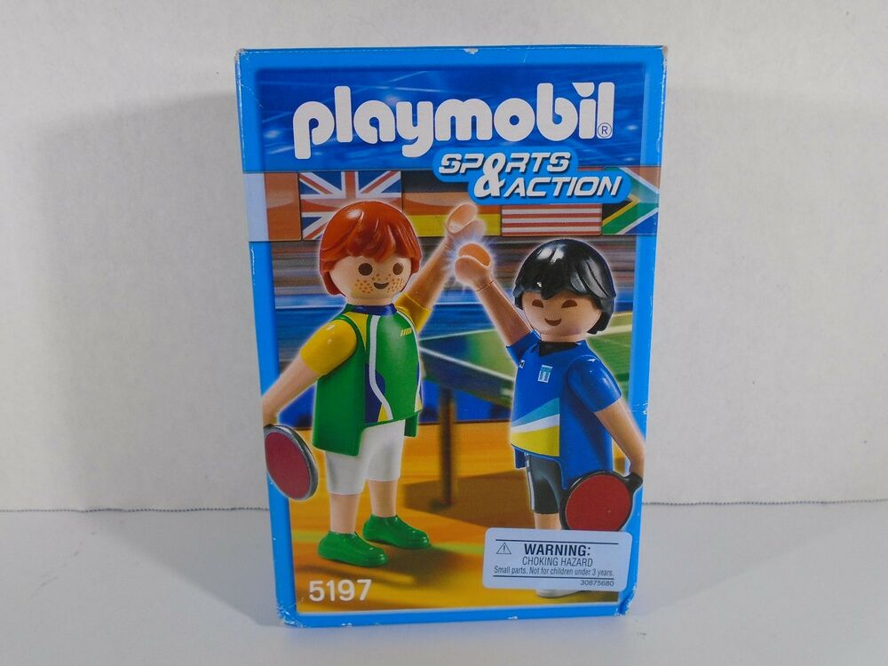 Playmobil sports action table tennis figures new for Table playmobil