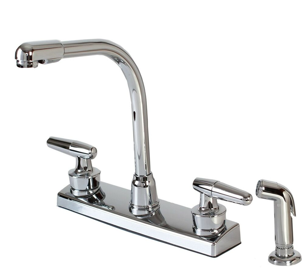 kitchen faucets ebay hardware house 12 1927 chrome two handle high rise kitchen 13215