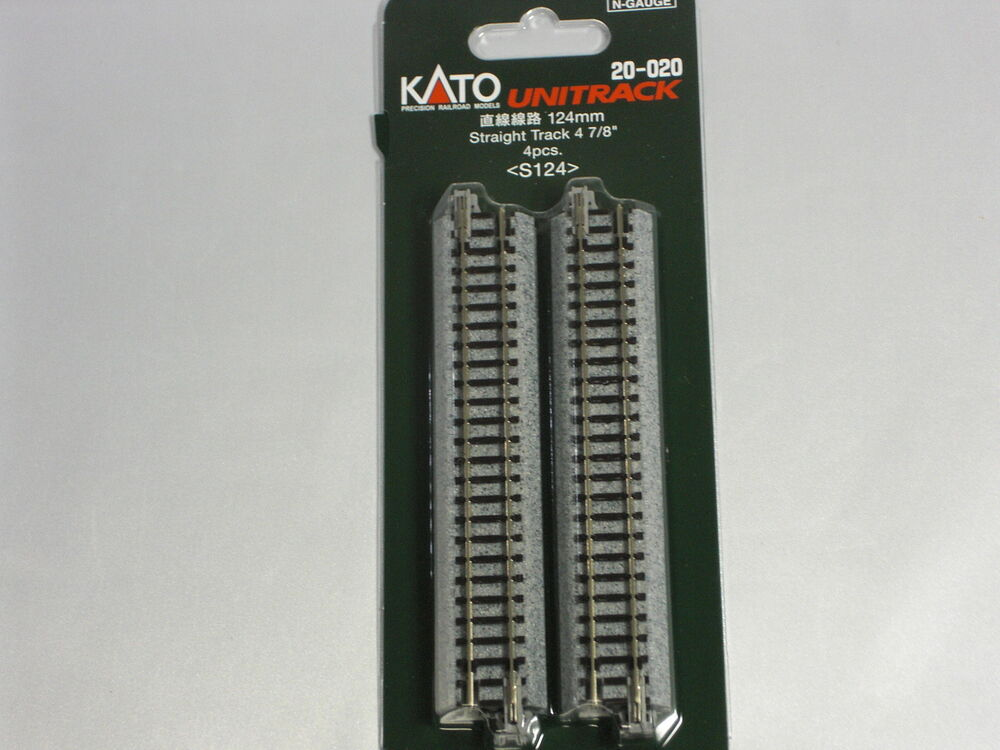 kato n gauge unitrack straight 124mm 4 pieces 20 020 ebay. Black Bedroom Furniture Sets. Home Design Ideas