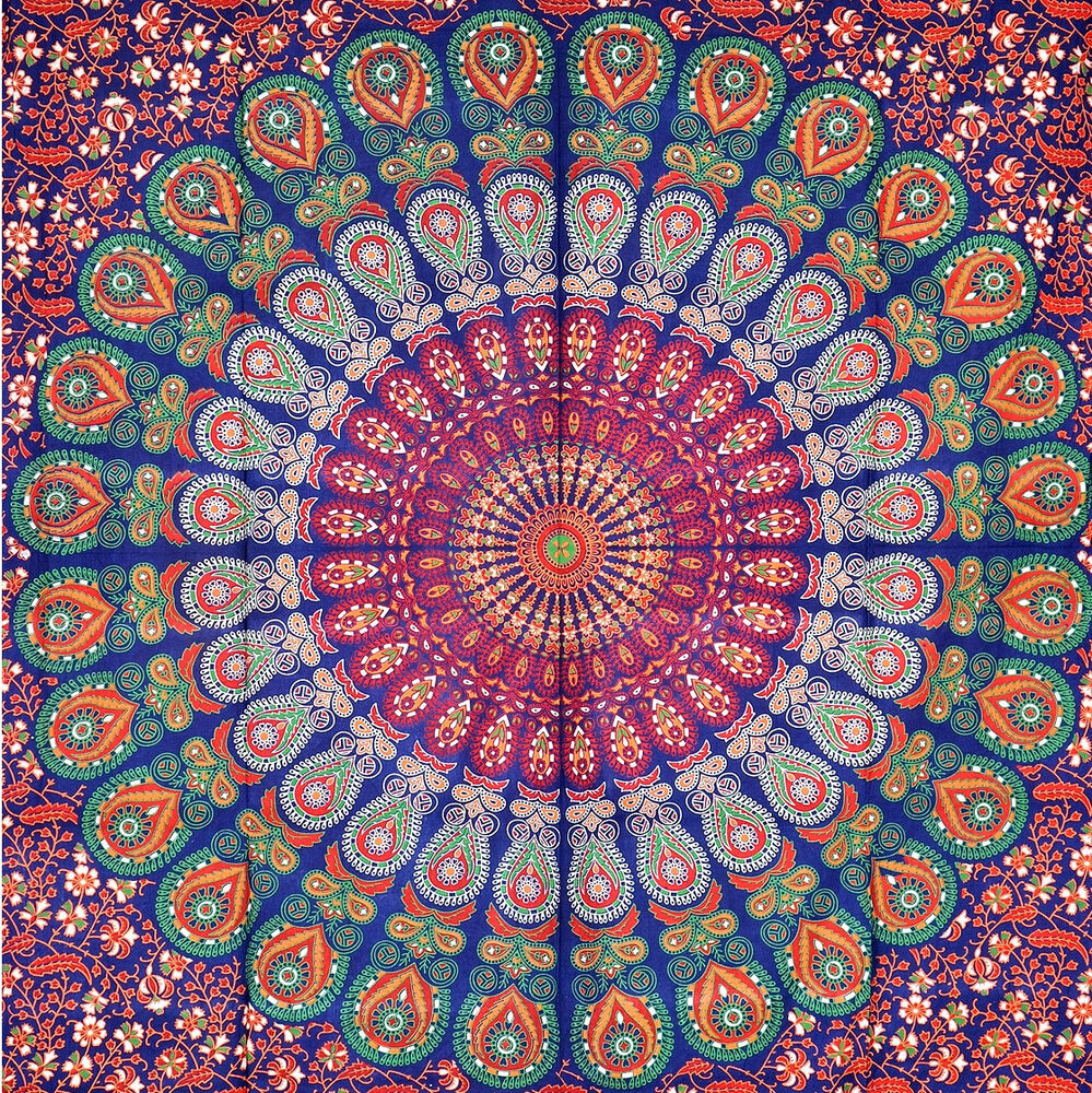 Wall decor hippie : Indian mandala tapestry wall hanging hippie elephant