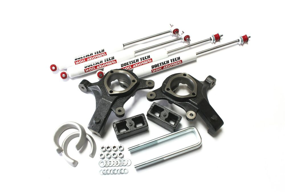 Gm 05 Lift Kit 6 Front Spindles Spacers 4 Rear Blocks