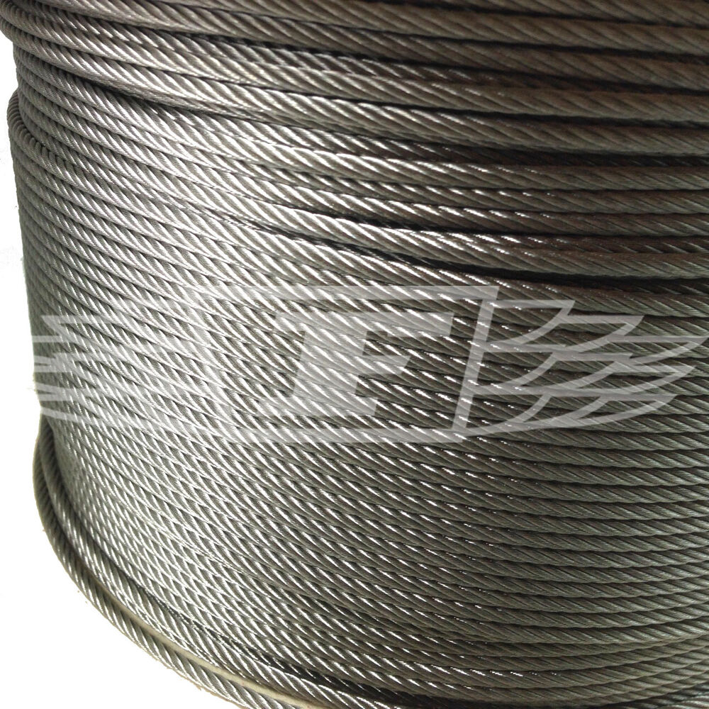 3mm WIRE ROPE (7x19) A4 MARINE GRADE STAINLESS STEEL ROPE HALYARD ...