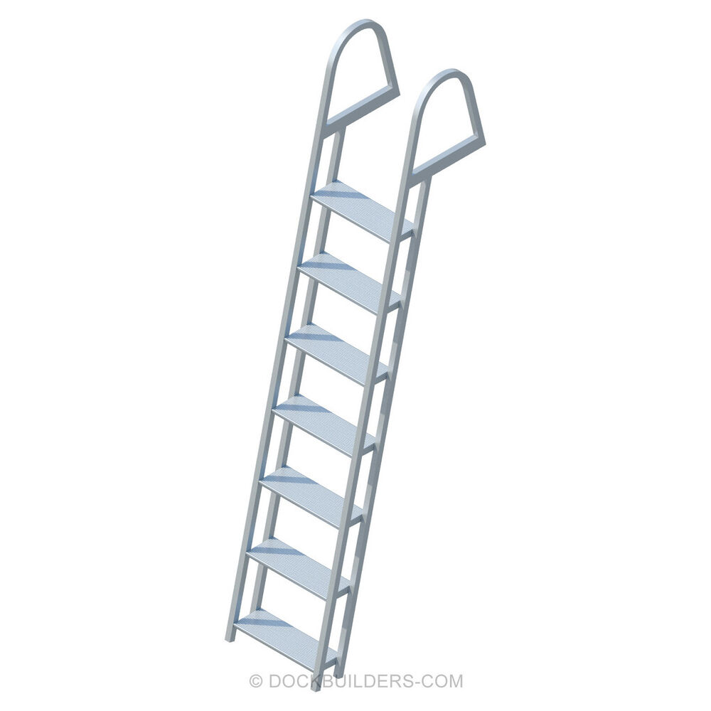 7 Step Angled Stationary Dock Ladder With 5 Quot Extra Wide
