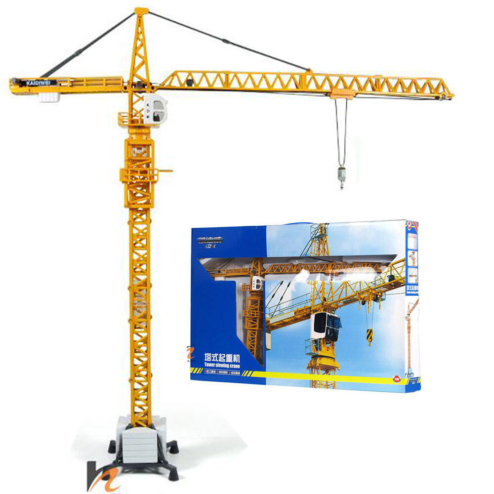 Tower Crane Engine : Kdw o scale diecast tower slewing crane construction