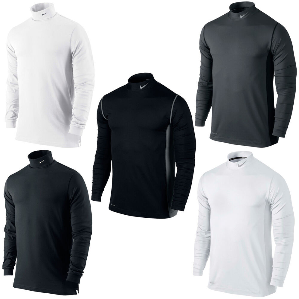 New mens nike dri fit high neck long sleeved lightweight for Xxl long sleeve t shirts