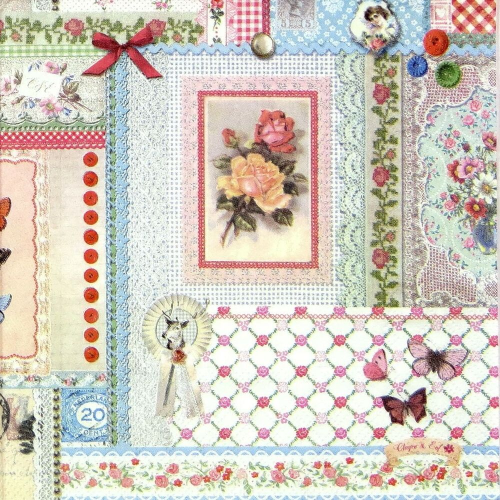 4x paper napkins for decoupage decopatch craft pattern ebay for Crafts that sell on ebay