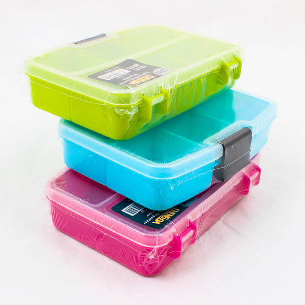S m l size plastic jewelry removable tool box case craft for Craft storage boxes plastic