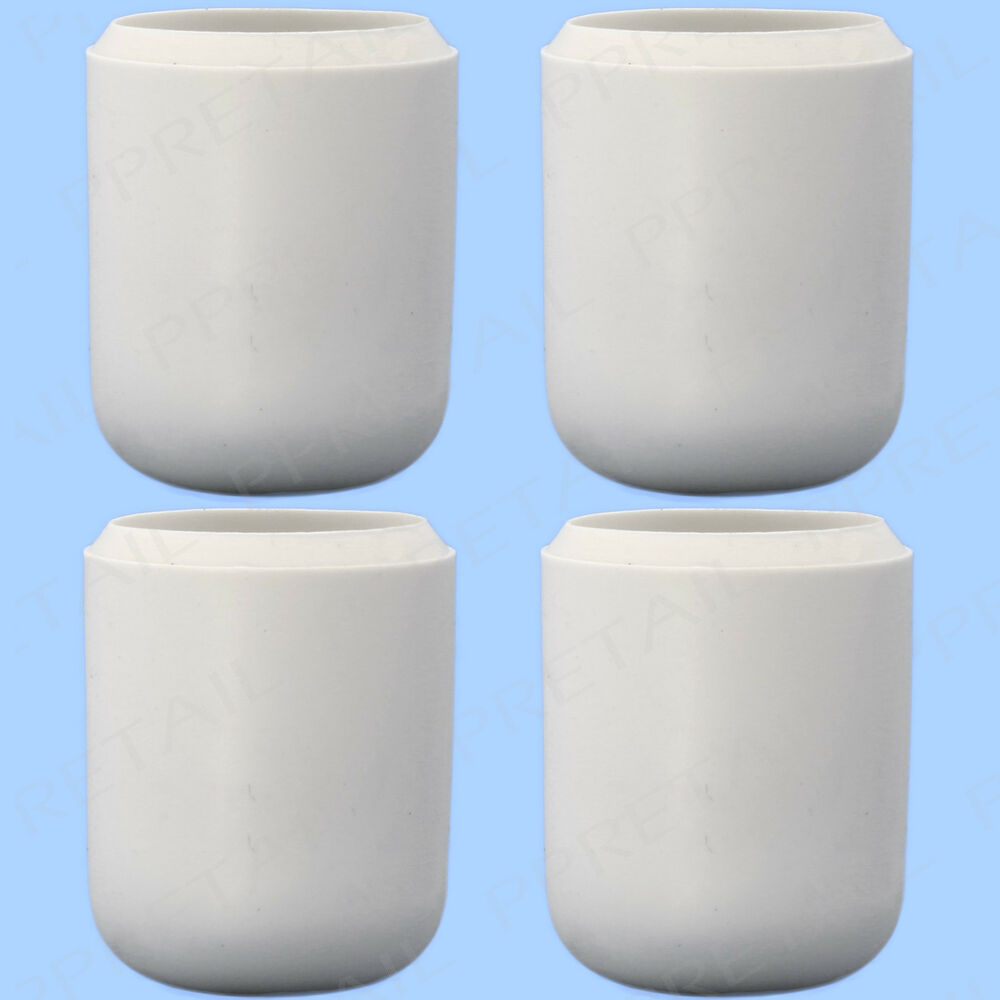 4x rubber furniture leg caps 19mm white anti scratch floor protector chair table ebay. Black Bedroom Furniture Sets. Home Design Ideas