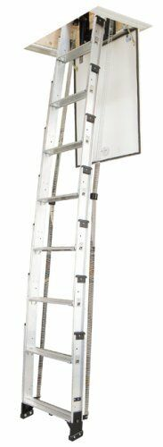 Telescoping Attic Ladder : Werner universal telescoping televator attic ladder