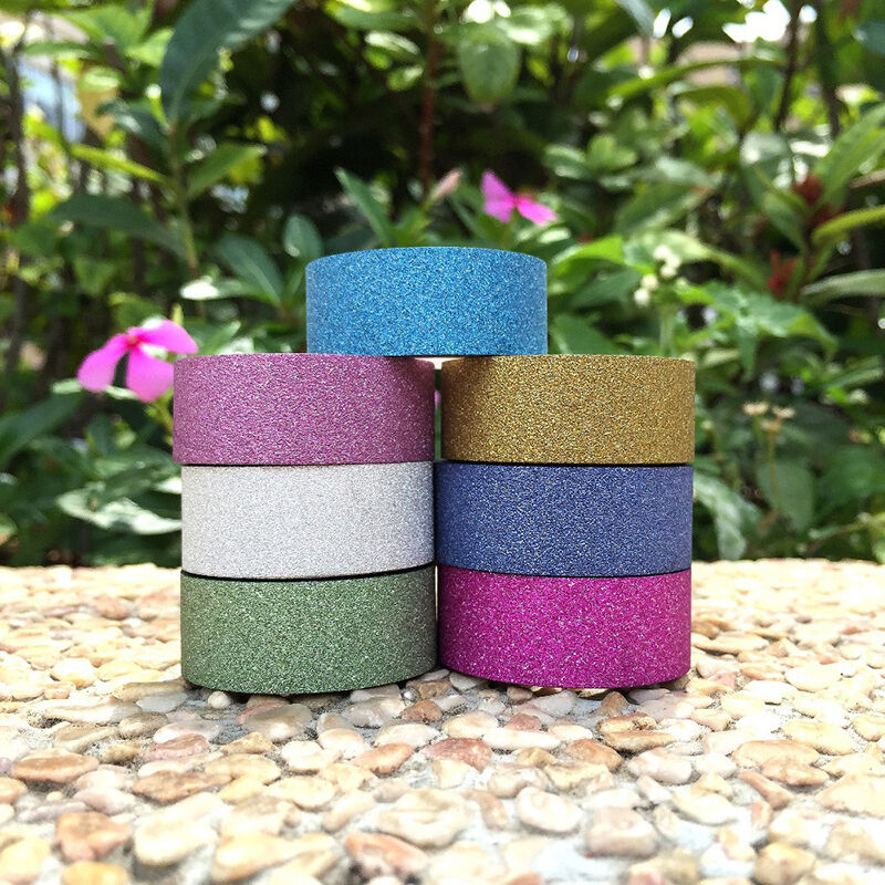 2x deko glitzer klebeband tagebuch dekoband masking washi tape basteln sticker ebay. Black Bedroom Furniture Sets. Home Design Ideas
