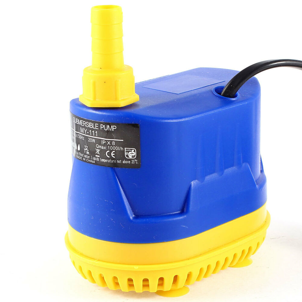 Ac 220 240v 20w 2 wire 1000l h water flow submersible pump for Fish wire walmart