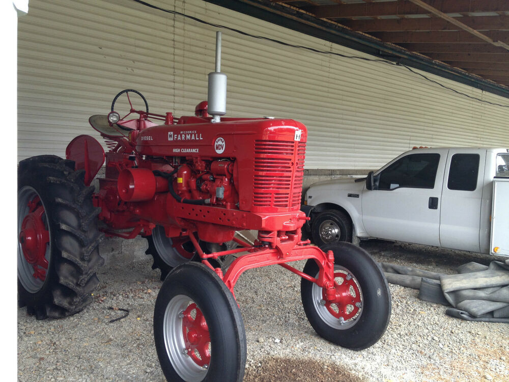 Restored Antique Tractors : Farmall high clearance crop diesel antique tractor super