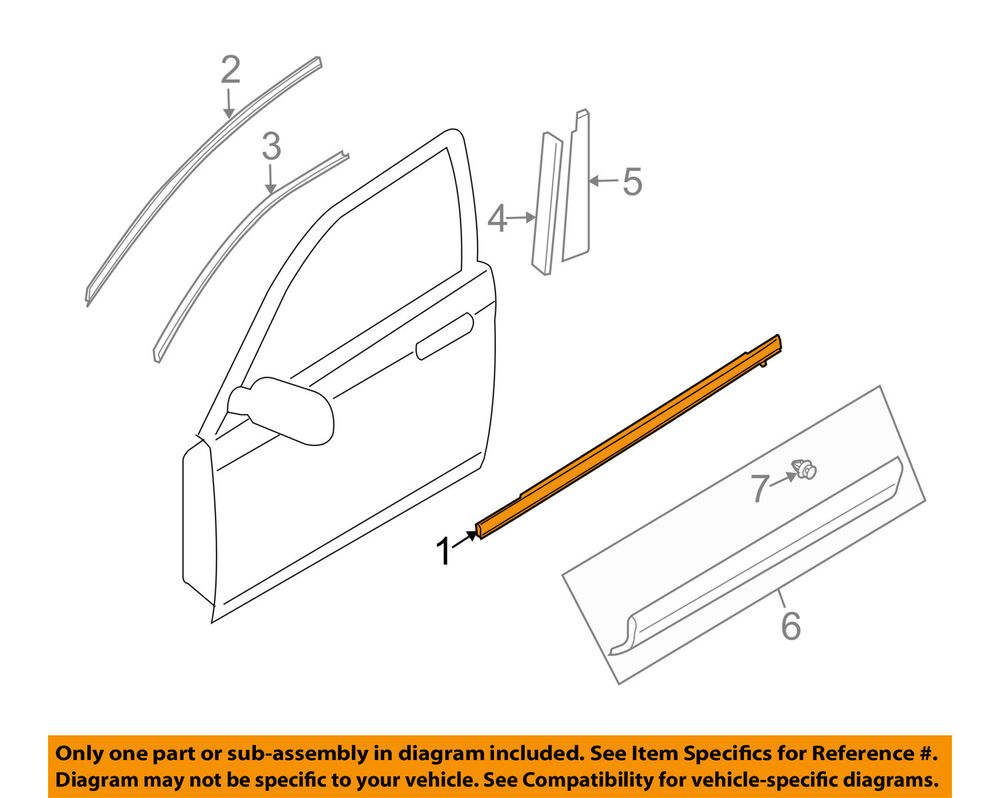Mazda oem cx 9 front door window sweep belt molding for Front door not centered