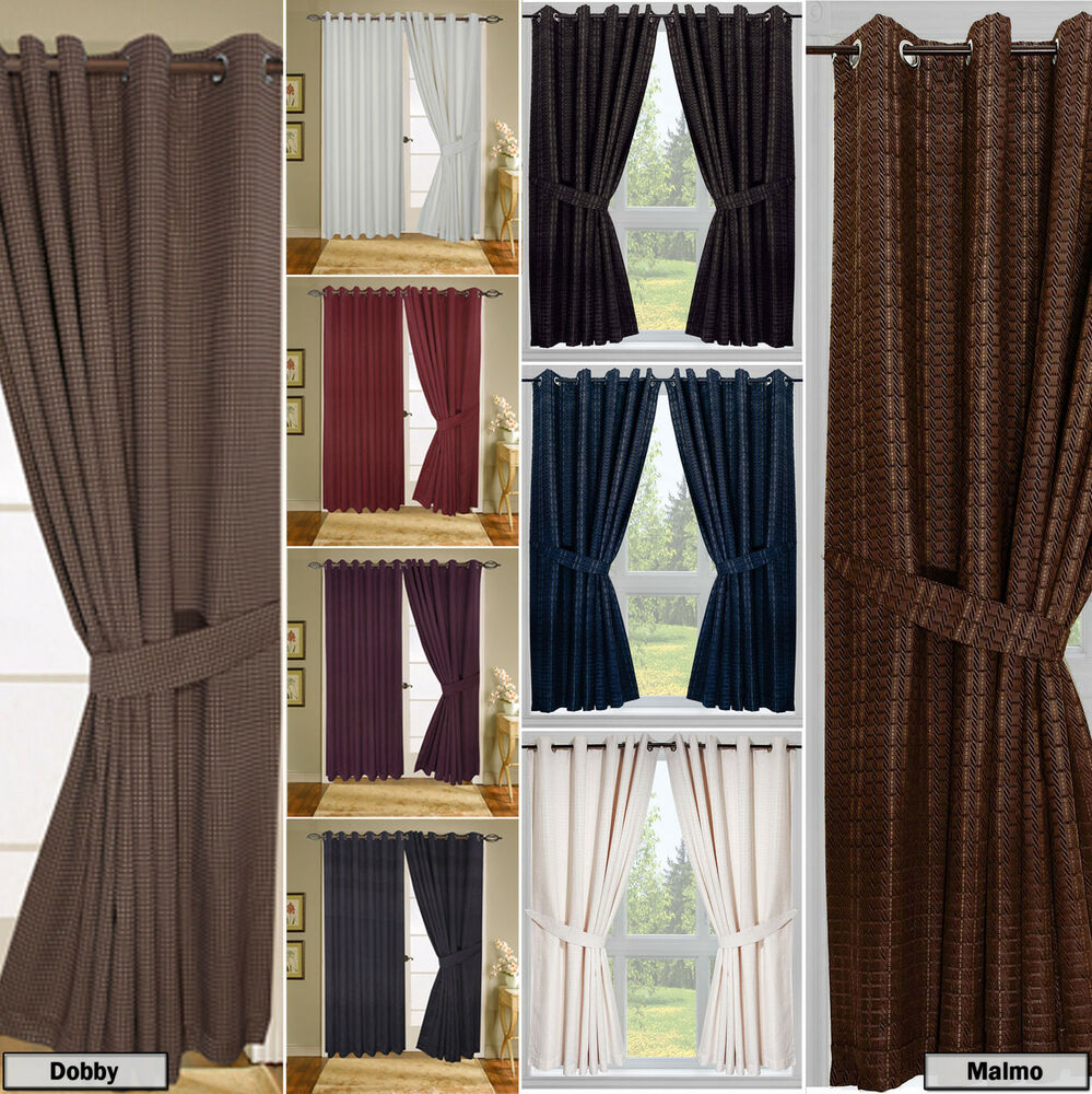 Tie Back Kitchen Curtains: Check Jacquard Curtains With Tie Backs