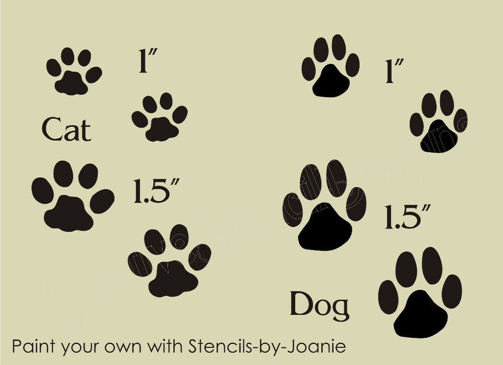 It is a photo of Unusual Dog Paw Print Stencil Printable Free