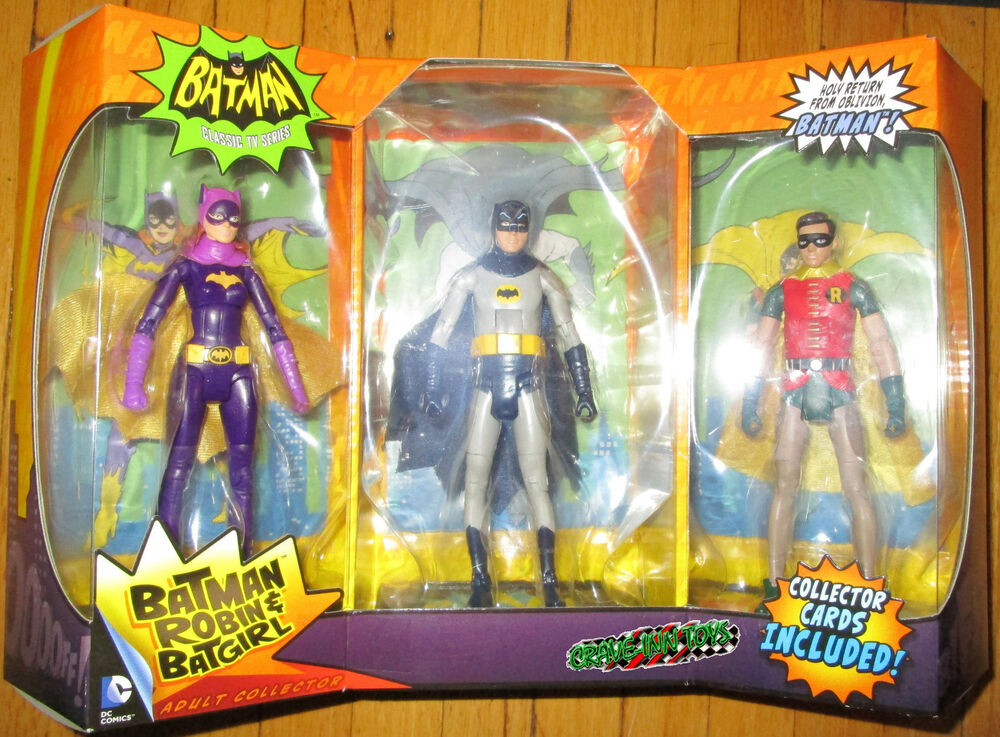 Batman 1966 Classic Tv Series 3 Pack Figur Set Batman & Robin Batgirl Eksklusiv-6663