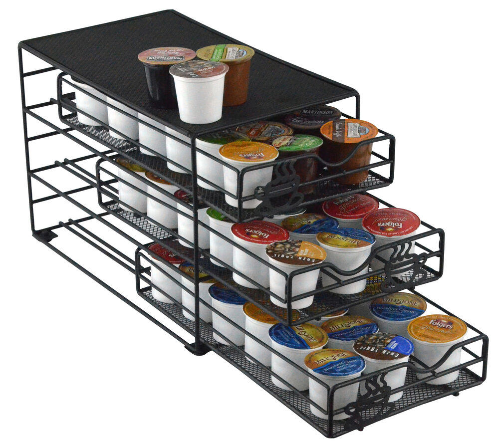 3-Tiered Keurig K-cup Storage Coffee Pod Drawer 54 K-cups ...