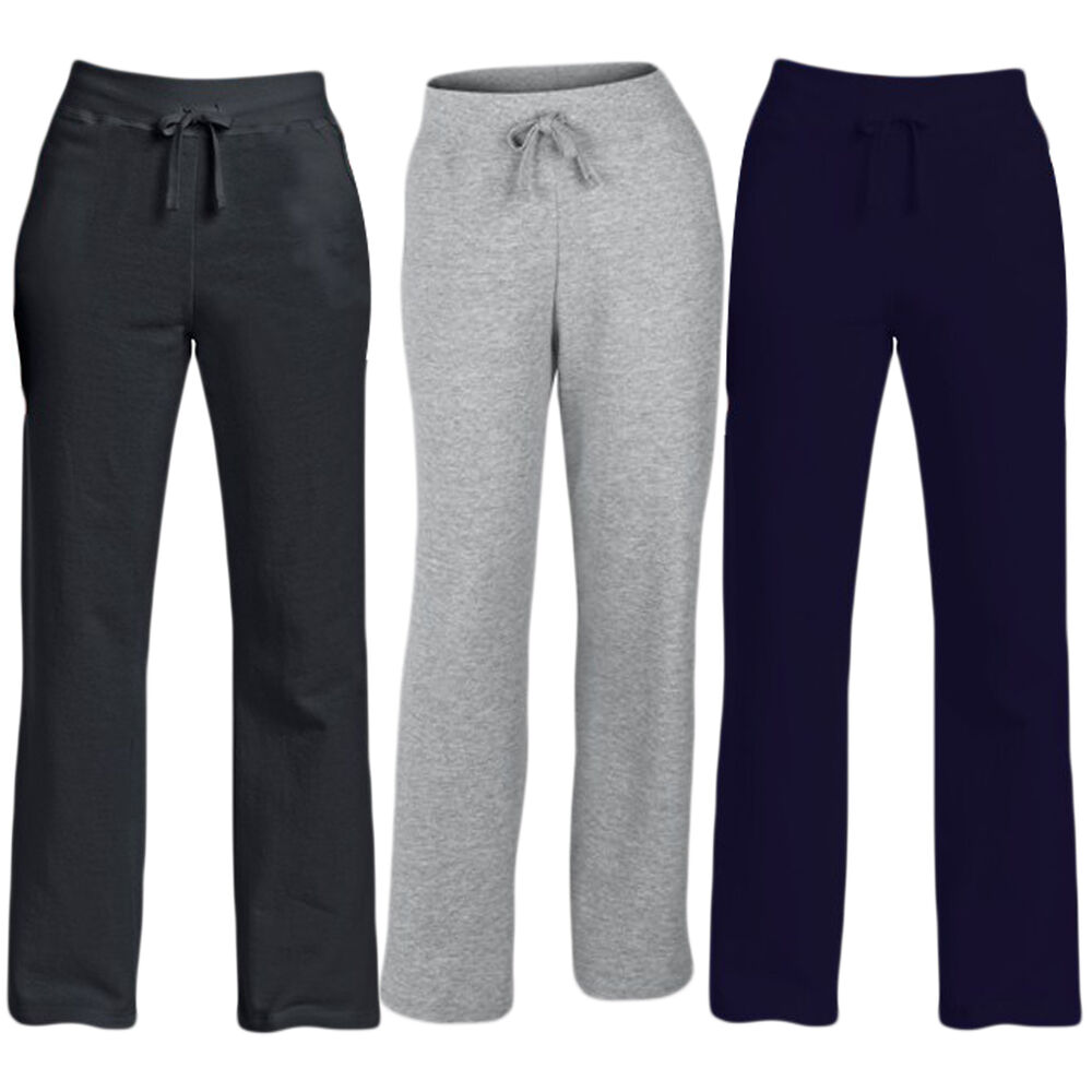 New Womens Ladies Fleece Knit Jogging Running Active Joggers Pants | EBay