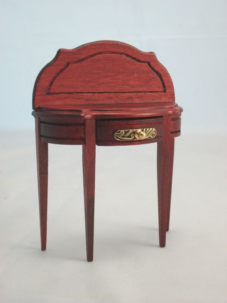 Half round side table dollhouse miniature furniture wooden for 12 rules of the round table