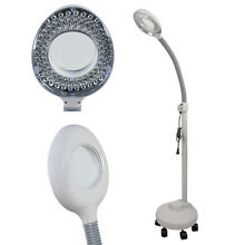 5X Desk Table Floor Clamp Magnifier Lamp Light Magnifying Glass Lens Diopter