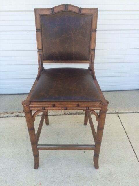 Frontgate New Haven Counter Bar Height Chair Leather